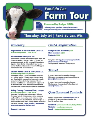 NAMA Fond du Lac Farm Tour
