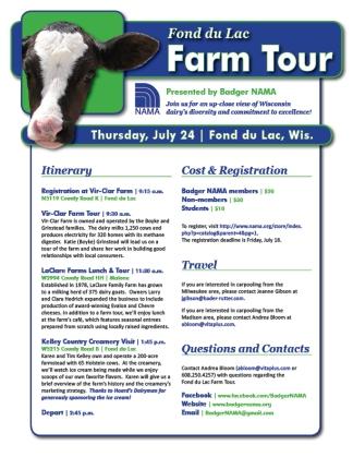 NAMA Fond du Lac Farm Tour
