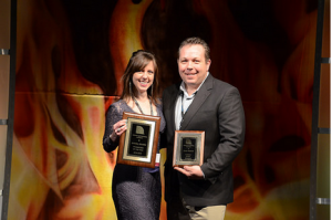 Andrea and John recognized at the Best of NAMA for professional excellence.